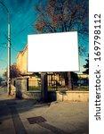 big blank billboard on the... | Shutterstock . vector #169798112