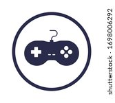 antique gamepad glyph icon... | Shutterstock .eps vector #1698006292