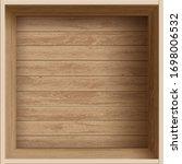empty open wooden box. blank... | Shutterstock .eps vector #1698006532