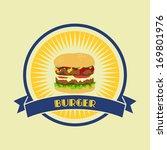 burger retro label | Shutterstock .eps vector #169801976