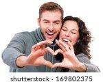 valentine couple. portrait of... | Shutterstock . vector #169802375
