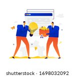 illustration of businessmen... | Shutterstock .eps vector #1698032092