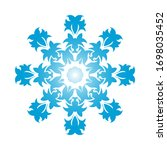 circle snowflake ornaments.... | Shutterstock .eps vector #1698035452