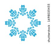 circle snowflake ornaments.... | Shutterstock .eps vector #1698035455