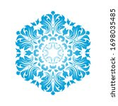 circle snowflake ornaments.... | Shutterstock .eps vector #1698035485