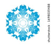 circle snowflake ornaments.... | Shutterstock .eps vector #1698035488
