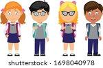vector illustration of pupil...   Shutterstock .eps vector #1698040978