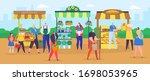 Street Shop Market Vector...