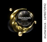 ramadan kareem. vector... | Shutterstock .eps vector #1698073942