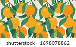 Citrus Tree Summer Seamless...