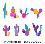 Vector Illustration Of Cacti...