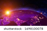 planet earth with a spectacular ...   Shutterstock . vector #1698100078