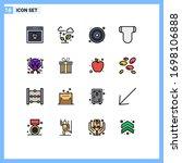 stock vector icon pack of 16... | Shutterstock .eps vector #1698106888
