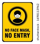 no face mask no entry policy... | Shutterstock .eps vector #1698113962