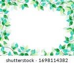 vector frame of green leaves... | Shutterstock .eps vector #1698114382