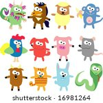 vector collection of animals 23 | Shutterstock .eps vector #16981264