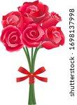 red rose flower vector... | Shutterstock .eps vector #1698137998