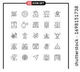 25 line concept for websites...   Shutterstock .eps vector #1698151738