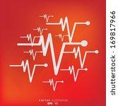 heart beat  cardiogram. pulse... | Shutterstock .eps vector #169817966