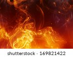 abstract fire background with... | Shutterstock . vector #169821422