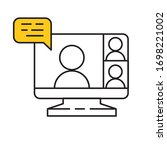 computer screen icon with a... | Shutterstock .eps vector #1698221002