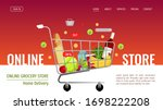 web page design template for...   Shutterstock .eps vector #1698222208