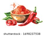 Bowl With Red Hot Chili Pepper...
