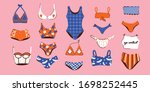 Lingerie And Swimsuits Vector...