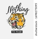 nothing to fear slogan with two ... | Shutterstock .eps vector #1698275095