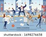 banner employees panic over... | Shutterstock .eps vector #1698276658