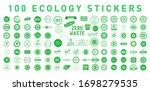 set of 100 ecology various... | Shutterstock .eps vector #1698279535