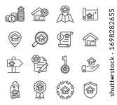 Real Estate Vector Lines Icon...