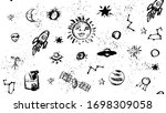 space doodle illustration.... | Shutterstock .eps vector #1698309058