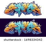summer graffiti lettering... | Shutterstock .eps vector #1698334342
