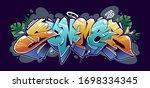 summer graffiti lettering... | Shutterstock .eps vector #1698334345