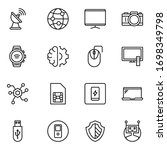 electronics set line icons in... | Shutterstock .eps vector #1698349798
