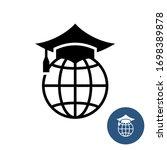 world global education logo.... | Shutterstock . vector #1698389878