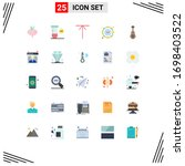 pack of 25 creative flat colors ... | Shutterstock .eps vector #1698403522