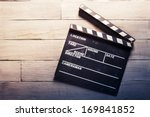vintage photo of movie clapper... | Shutterstock . vector #169841852