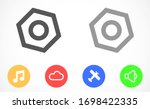 setting gear vector icon design ... | Shutterstock .eps vector #1698422335