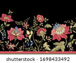 seamless pattern with stylized...   Shutterstock .eps vector #1698433492