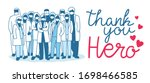 thank you doctor  nurses ... | Shutterstock .eps vector #1698466585