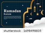 ramadan kareem or eid mubarak... | Shutterstock .eps vector #1698498835