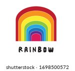 colorful rainbow abstract image.... | Shutterstock .eps vector #1698500572