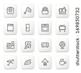 home appliances icons on white... | Shutterstock .eps vector #169850732