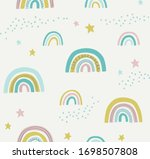hand drawn cute abstract... | Shutterstock .eps vector #1698507808