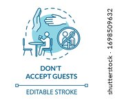 don't accept guests turquoise... | Shutterstock .eps vector #1698509632