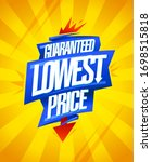 guaranteed lowest price ... | Shutterstock .eps vector #1698515818