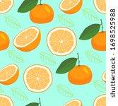 Seamless Pattern Orange Fruit...