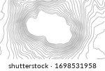 grey contours vector topography.... | Shutterstock .eps vector #1698531958